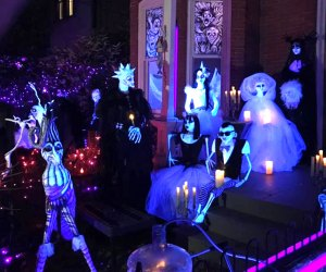 The Halloween House of Lambertville features more than 60 homemade, glowing, black-light figures. Photo courtesy of Lambertville