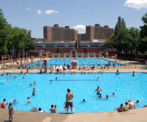 Beat the heat with a visit to a recently reopened NYC outdoor pool. Photo of Hamilton Fish pool by Daniel Avila/NYC Parks
