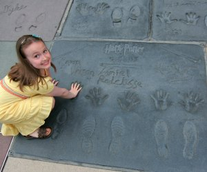 Check out Emma Watson's handprints at Grauman's Chinese Theater.  Photo by Jeff Christiansen/Flickr