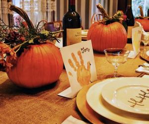 Handprint turkeys are a classic.
