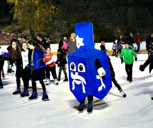 Skate with the Dreidel at Hanukkah on Ice. Photo courtesy of Chabad Lubavitch