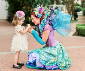 Happily Ever Laughter's playful fairytale characters keep children enchanted with whimsical activities like magic shows and group face painting (they can paint 5 children at the same time!)