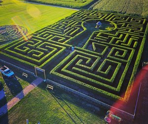 Harbes Family Farm on the North Fork offers multiple mazes for autumn entertainment.