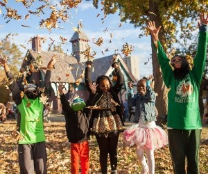 The Harlem Meer celebrates with three nights of FREE Halloween events, including the popular Pumpkin Flotilla, a treat scavenger hunt, and more. Photo courtesy of Central Park Conservancy