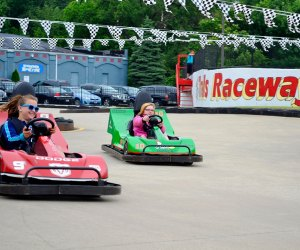 Best Amusement Parks in the Chicago Area for Families: kids driving go-karts