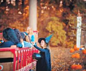 Take a hayride and visit with Linvilla Orchards' friendly witch. Photo courtesy of Linvilla Orchards