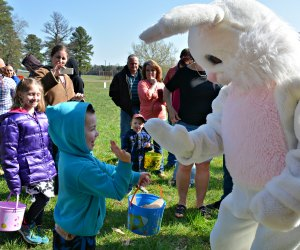 The Easter Bunny is the man of the hour in DC. Photo by Fort A.P. Hill/Flickr