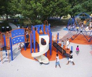 Aerial shot of Hilltop Playground