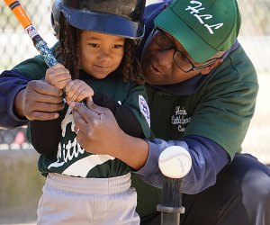 Many city Little League programs start with T-ball catering to kids as young as age 4.