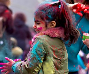 Celebrate the Indian festival of color and springtime at Holi Hooray at the Brooklyn Children's Museum. Photo courtesy of the musuem