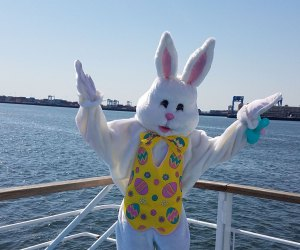 Meet and greet the Easter Bunny at brunch....on a boat! Photo courtesy of Hornblower Cruises