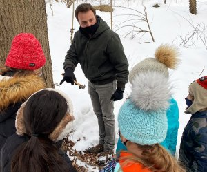As winter ends it's Maple Sugaring Time at the Hudson Highlands Nature Museum. Photo courtesy of the Museum