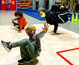 Hudson Play Breakdance class with kids Indoor Obstacle Courses, Ninja Warrior Training, and Aerial Arts for NJ Kids