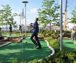 The 18-hole course at Pier 25  is known for inexpensive, and accessible fun. Photo courtesy of Hudson RIver Park