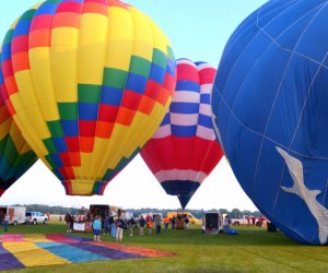 Watch the giant balloons take flight at the Hudson Valley Hot Air Balloon Festival. Photo courtesy of the fest