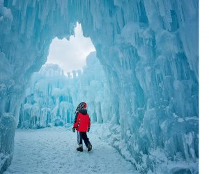 Ice Castles is a unique experience in the White Mountains. Photo courtesy of Ice Castles