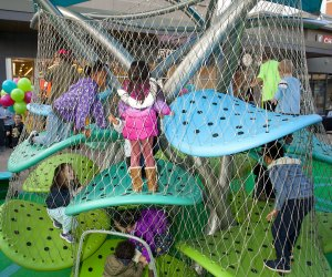 Kids can explore and climb safely on the new Luckey Climber at Cross County Shopping Center. Photo by Toby McAfee
