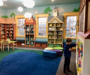 "Wellesley's Fells Branch has been renovated into a ""learn and play"" space. Photo courtesy of Mommy Poppins"