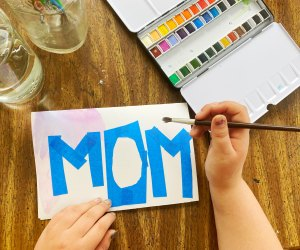 Use watercolors to make beautiful DIY Mother's Day cards at home.
