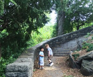 Gentle and pretty walking paths make Fort Tryon a hit with all ages. Photo by Mommy Poppins