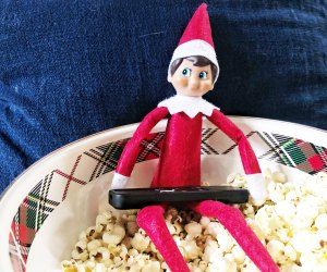 Eld on the shelf hoardes the remote and eats all the popcorn