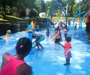 Cool down at the free  Watsessing Park Spray Park in East Orange. Photo by Margaret Hargrove