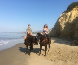 Riding the beach with Los Padres Outfitters, photo by Mommy Poppins