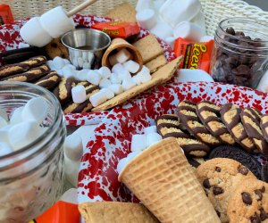 Dessert charcutterie boards, like this S'mores Board,  delight kids and parents alike.
