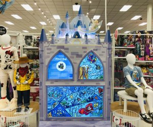 "The interactive entertainment center keeps kids busy as parents shop the Disney ""shop-in-shop"" at select Target locations."