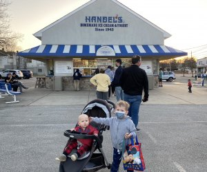 Pick from more than 40 flavors at Handel's Ice Cream parlor.