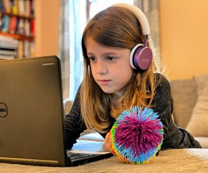Keep her hands busy with a Koosh ball so she can focus her mind. Photo by author