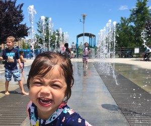 Potomac Yards Interactive Fountain. Photo courtesy Kim Nguyen
