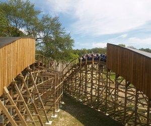 Wooden Warrior roller coaster at Quassy Amusement Park
