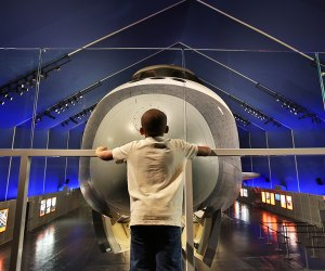 Enjoy an Adventures in Aviation program at The Intrepid Sea, Air & Space Museum as part of the STEM Matters program. Photo courtesy of the Museum