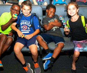 Learn about spacecrafts at the Intrepid Sea, Air and Space Museum's camp. Photo by Erika Kapin/courtesy the museum