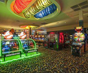 Ghostbusters and Wheel of Fortune are among the classic arcade games at iPlay America.