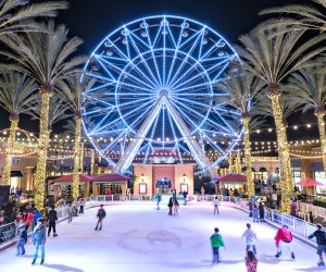 Skating at the Irvine Spectrum Center. Photo by Allen Ling