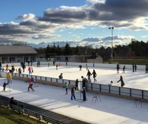 Sign up for a socially distant skating slot at Jack Kirrane rink in Brookline. Photo courtesy of Brookline Recreation Department