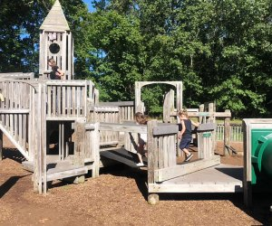 The Jackson Jungle Playground offers a maze of towers to climb and explore. Photo by Brittany Bates