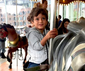 Take a joy ride through history on the century-old Jane's Carousel Photo by Matt Nighswander