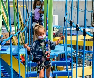 Jekinson's Adventure Lookout Ropes Course is situated on the Jersey Shore