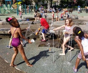 The water features at James J. Byrne Playground in Park Slope are a huge draw.  Photo by Al DiIngeniis