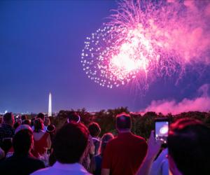 Fireworks light the DC sky on July 4. Photo by Jason Dixson Photography courtesy of washington.org
