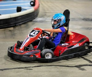 K1 features electric cars and two different tracks that both adults and kids can race for fun on.  Photo courtesy of K1