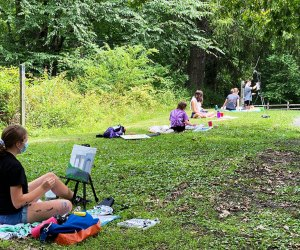 Enjoy art in the great outdoors at the Katonah Arts Center's summer camp. Photo courtesy of the Center