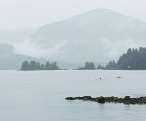 See the view of the bay from the local Sitka library.