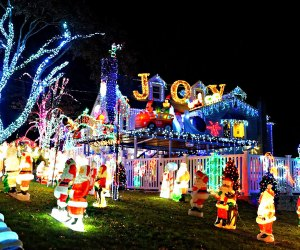 The Keeler Christmas Light Display includes close to a million lights. Photo courtesy of the family