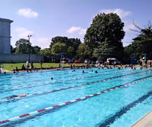 Enjoy all eight lanes of Kelly Pool. Photo courtesy of Mica Root for phillypublicpools.com