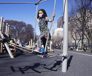 Central Park's Kempner Playground boasts a brand new look with separate play areas for ages 2-5 and 5-12. Photo by Jody Mercier