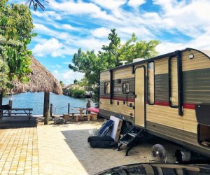 The Key Largo Campground in Florida is located on 40 acres of tropical foliage. Photo courtesy of the campground